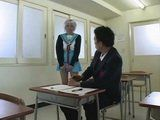 Japanese Teen With Wig CFNM Blowjob In Classroom