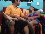 Sleeping Latinoamerican Wife Gets Fucked By Her Horny Hubby On Sofa