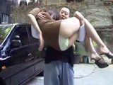 Pretending Like He Wish To Help Dirty Man Took Dunk Milf To Her Home Where Fucked Her Till Her Hubby Suddenly Appear