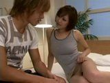 Hot Japanese Stepmom Natsumi Horiguchi Without Panties Seduces and Fucks Her Stepson