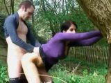 Dude Fucks His Nerd Gf In The Woods While His Best Friend Is Recordicng