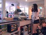 Cashier Girl Gets Assaulted By Customer On Working Place