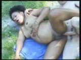 Pregnant African Fucked By A Skinny White Oldie By The River