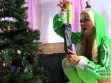 Santa Claus Put The Best Present For Always Cock Hungry Girl Under The Christmas Tree