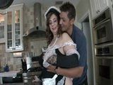 Horny Boss Start Seducing His New BBW Maid On Her First Day Job