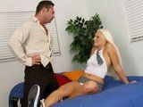 Slutty Blonde Schoolgirl Seduces Her Teacher