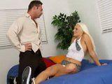 Slutty Blonde Schoolgirl Seduces Her Teacher