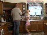 Daddy Fucks Daughters Teen Girlfriend In Kitchen