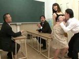 Mother Chisato Shoda Father an Their Problematic Son Having Conversation With Principal At School