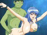 Captive Hentai Big Boobs Hard Fucked Green Monster