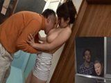 Busty House Owner Ayumi Shinoda Gets Caught Fucking The Old Neighbor Guy In A Bathroom