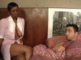Half Naked Horny Housekipper Schocked Sleeping Guy With Her Sugestion
