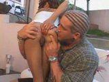 Cute Ebony Teen Gets Anal Fucked By Tattooed White Guy