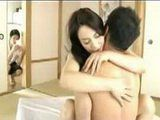 Slutty Japanese Mom Caught By Son While Cheating Dad