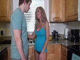 Seeing Hot Stepmother Half Naked In The Kitchen Was Too Much For Horny Stepson