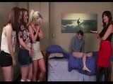 Spying Stepmom Embarrassed Young Stepson In Front Of His Girlfriends