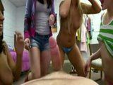 Naughty College Girls Playing With Few Cocks