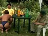Guy Fucking Stranger Girl While On A Picnic With His Friend