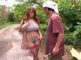Villager Was Amazed When Super Hot Hitomi Tanaka Appears From Nowhere And Start Seducing Him