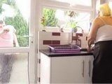 Chubby Busty Mature Woman In Sex Action In Kitchen With Her Sons Young Friend