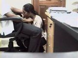 Indian Real Secretary Blows Her Boss at Work