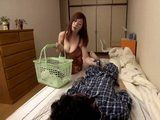 Horny Stepmother Found Sleepng Stepson With Dick Hard On