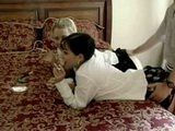 Two Sexy Teenagers Fucked Interchangeably While Smoking Cigarretes On The Bed