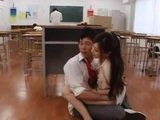 Japanese Teachers Nearly Gets Caught Fucking In A Classroom