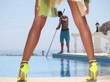 Seductive MILF Has Special Task For Pool Cleaner