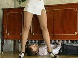 Immodest Boy Spied Under Aunt Skirt And Gets Caught