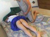 Exhausted Of Hard Studying Asian Teen Babysitter Was Easy Prey For Horny Daddy