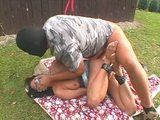 Bound Mature Housewife Gets Fucked In Her Backyard By Masked Guy