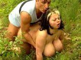 BBW German Mature Fucked In Nature