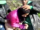 Village Arab Girl Gets Fucked By Two Guys Outside The Farm