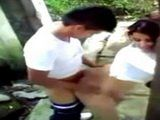 Younger Brother Secretly Tapes Elder One Fucking His Girlfriend In The Backyard