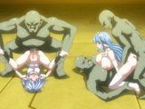 Bustiest hentai cuties group gangbanged by monsters