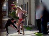 Sharking Amateur Blonde Hottie on the Street