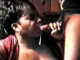Amateur Mature Afroamerican BBW Wife Messy Mouthful Facial Blowjob