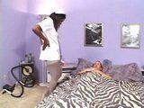 Black Ebony Nurse Help Patient To Feel Much Better