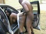 Busty Black Shemale Banged In The Car Outdoor