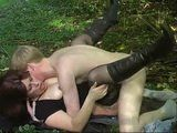 His First Time Happened In The Woods With Redhead MILF Nextdoor