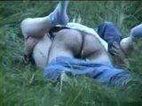 Voyeur Tapes Couple Fucking In The Field