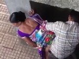 Cheating Indian Wife Busted Fucking In Public and Taped From The Roof