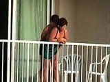 Amateur Couple Caught Fucking On The Terrace