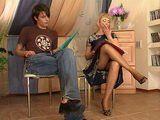Russian Boy Fuck His MILF Private Teacher In Pantyhose