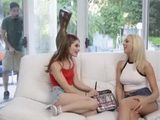 Stepbrother Joins Her Not Sister And Her Cute Teen Friend