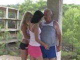 Two Girls Made Old Fart Luckiest Man On The Planet