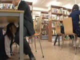 Frightened Japanese Schoolgirl Forced To Do Everything Her Perverted Professor Wanted Her To In A School Library