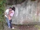 Young Wife Caught Cheating With A Teenage Neighbor On The Street Where She Thought Nobody Can See Them