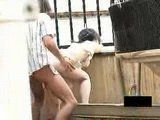 Voyeur Tapes Japanese Teenagers Fucking Outdoor and Was Caught At The End